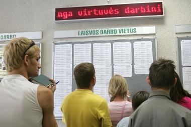 Lietuvoje didėja nedarbo lygis