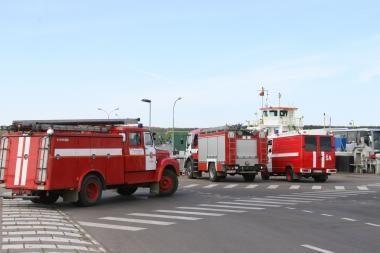 Laive likviduotas gaisras
