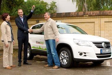 """""""Volkswagen Tiguan"""" sėkmingai pasiekė Plungę (papildyta)"""