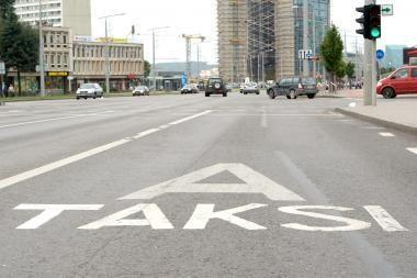 Vilniuje plinta nelegalūs taksi