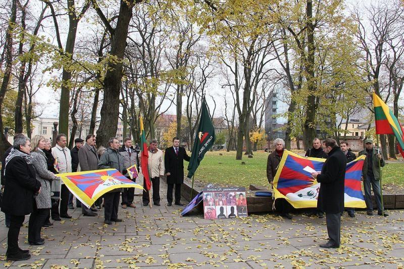 Mitinguotojai parėmė laisvės siekiantį Tibetą