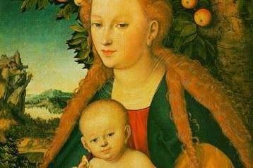 """Į Vilnių atkeliaus L.Cranacho paveikslas """"Madona su kūdikiu"""""""