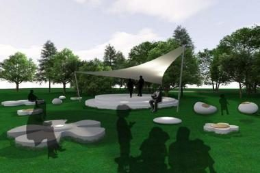 Šalia V.Kernagio paminklo Nidoje - Bardų skveras (atnaujinta)