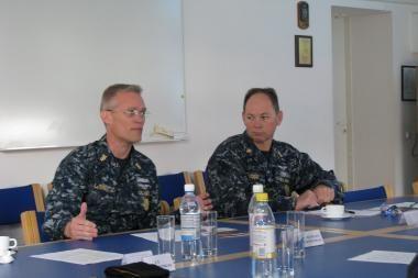 Karinėse jūrų pajėgose - svečiai iš JAV