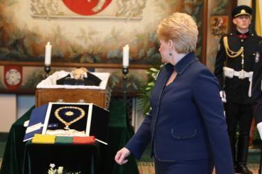 D.Grybauskaitė: A.Brazauską vadinu savo mokytoju