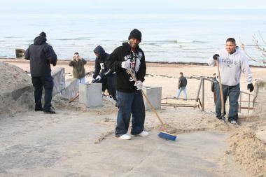 JAV kariškiai vėl tvarkys Klaipėdos paplūdimius