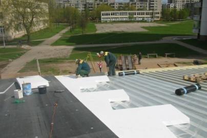 Bus renovuojami švietimo įstaigų stogai