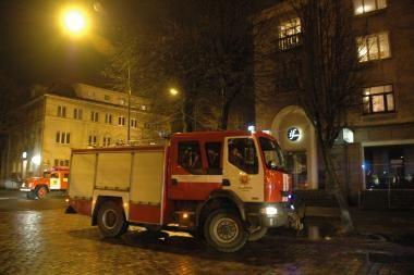 Klaipėdoje degė teismo pastatas