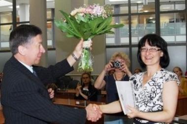 """""""Liepaičių"""" merginų chorą pasveikino Vilniaus valdžia"""