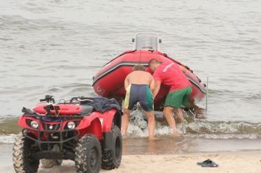 Audringoje jūroje – merginos gelbėjimo operacija