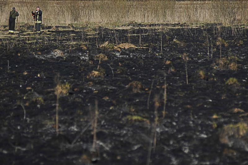 Ugniagesiai per parą 87 kartus gesino degančią žolę