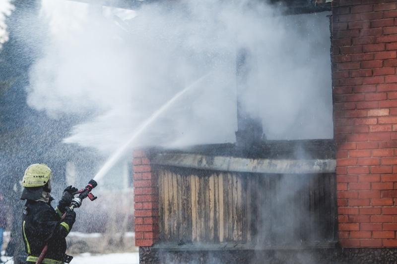 Dituvoje gaisras nusiaubė sodininko ūkinį pastatą