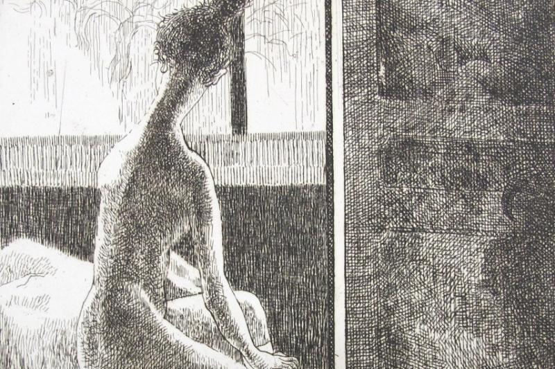 """P.Domšaičio galerijoje – grafikės """"Kasdienybės valandos"""""""