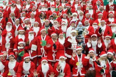 Vilniuje - naujametinis Kalėdų Senelių maratonas