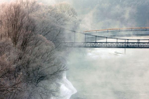 Orai Vilniuje: pustys, snigs, bus žvarbu