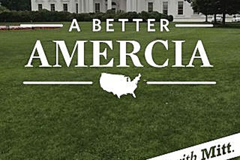 """M.Romney rinkimų kampanijos šūkyje žodis """"Amerika"""" – su klaida"""