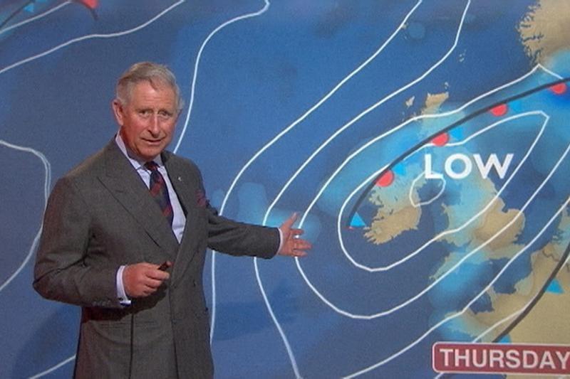 """Princas Charlesas Škotijoje virto """"orų berniuku"""""""