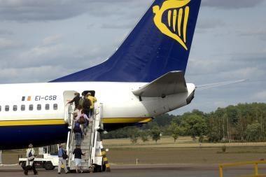 """""""Ryanair"""" mažins skrydžių skaičių į Kauną?"""