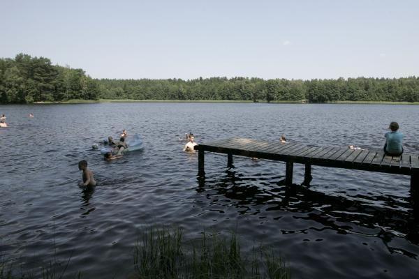 Asvejos ežere maudytis nerekomenduojama