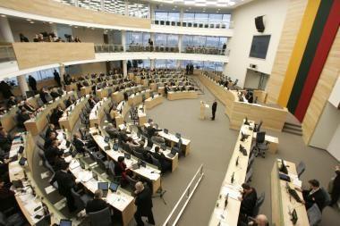 Parlamentarams siūloma neimti algų