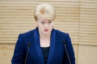 D.Grybauskaitė: skirdama milijonus partijoms Vyriausybė nerodo taupymo pavyzdžio