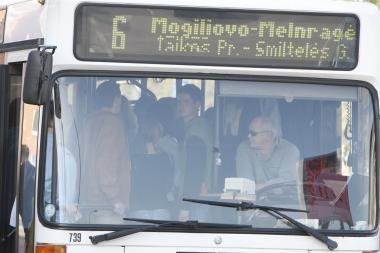 Po keiksmų autobuse paaugliai pateko į policiją
