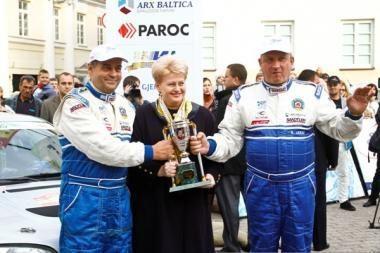 Prezidentės taurė - automobilių ralio nugalėtojams