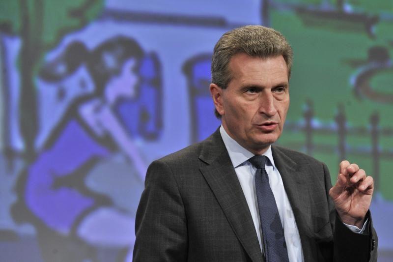 G. Oettingeris: be atominės jėgainės Lietuvai bus sudėtinga