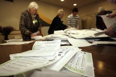 Reitinguodami rinkėjai partijų sąrašus koregavo nedaug