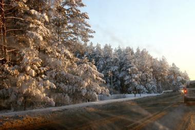 Pagrindiniuose keliuose eismo sąlygos neblogos
