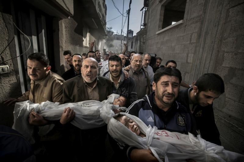 Prestižinis apdovanojimas – Gazos vaikų laidotuvių nuotraukai