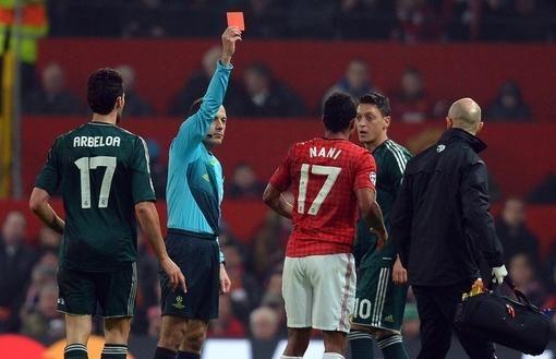 Skandalingasis arbitras: nesuklydau parodęs Nani raudoną kortelę