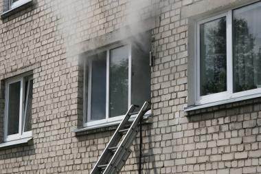 Klaipėdoje padegtas butas