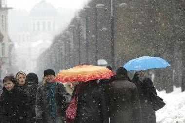 Orai Kaune: šaltis ir sniegas dar nesitrauks