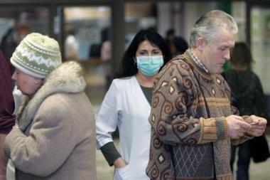 Kaune kas ketvirtam susirgusiajam diagnozuotas gripas (papildyta)
