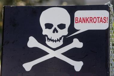 Ūkio ministerija laukia nuomonių tyčinių bankrotų klausimais