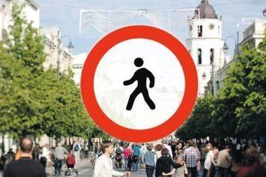 Gedimino prospektas be pėsčiųjų: vilniečių nuomonė