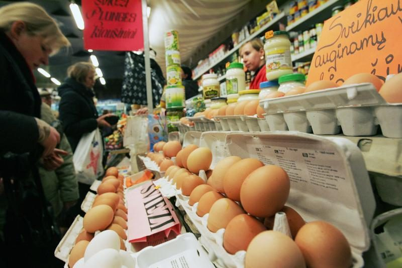 Didesnio kiaušinių pigimo po švenčių nežada