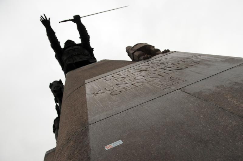 Ant Gedimino paminklo sostinėje - lenkų nacionalistinis šūkis