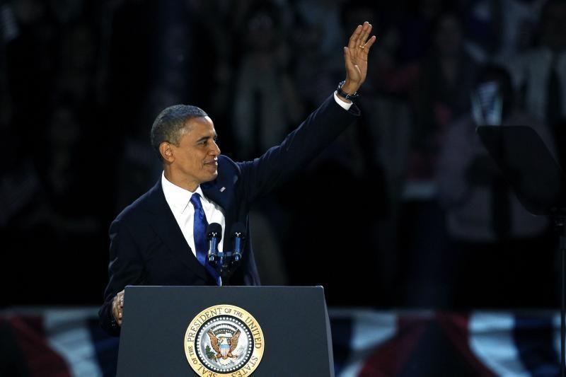 """Antrą kartą perrinktas B. Obama gyrė """"karų dešimtmečio"""" pabaigą"""