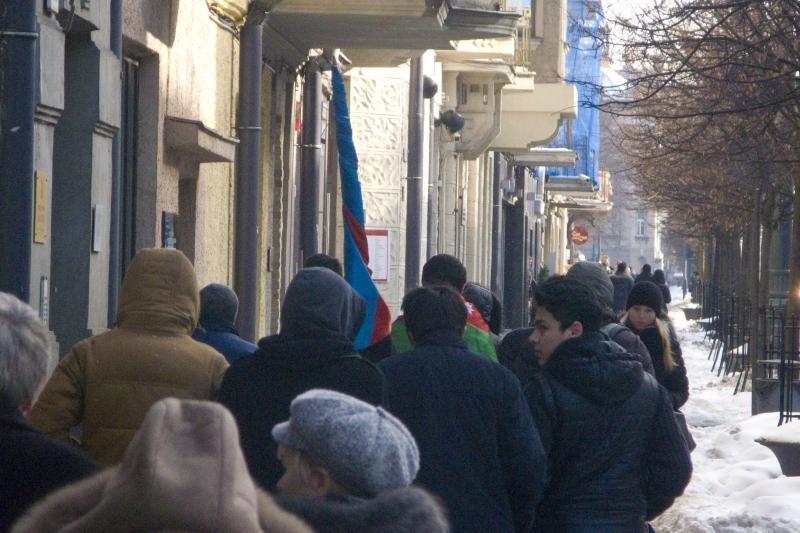 Vilniuje - armėnų ir azerbaidžaniečių piketai