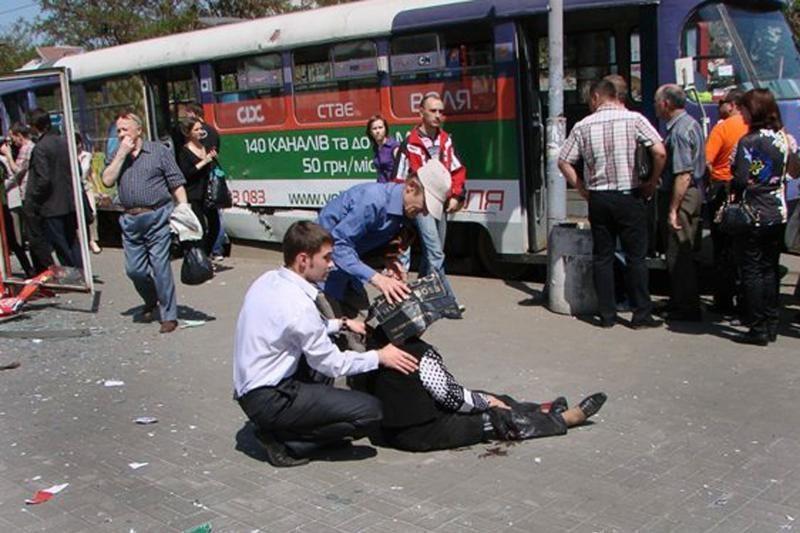 Ukrainoje per sprogdinimą tramvajuje sužeisti du žmonės