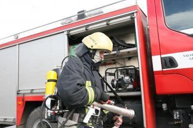Klaipėdos rajone degė gyvenamieji namai