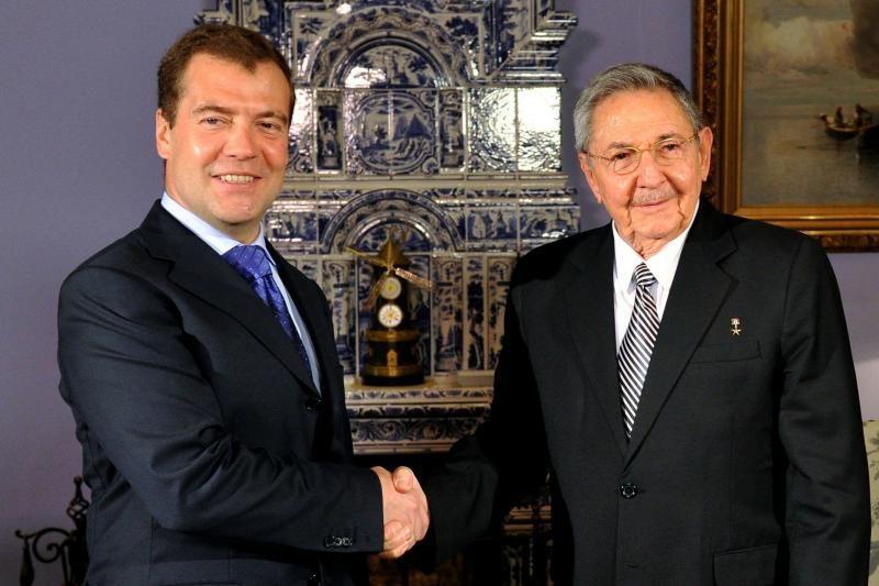 Kubos lyderis Raulis Castro atvyko į Maskvą