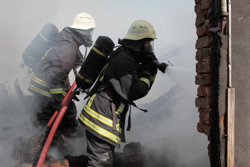 Užsiliepsnojus gyvenamajam namui sudegė moteris