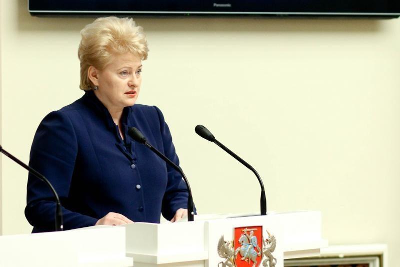D. Grybauskaitė: nemanau, kad egzistuoja euro krizė