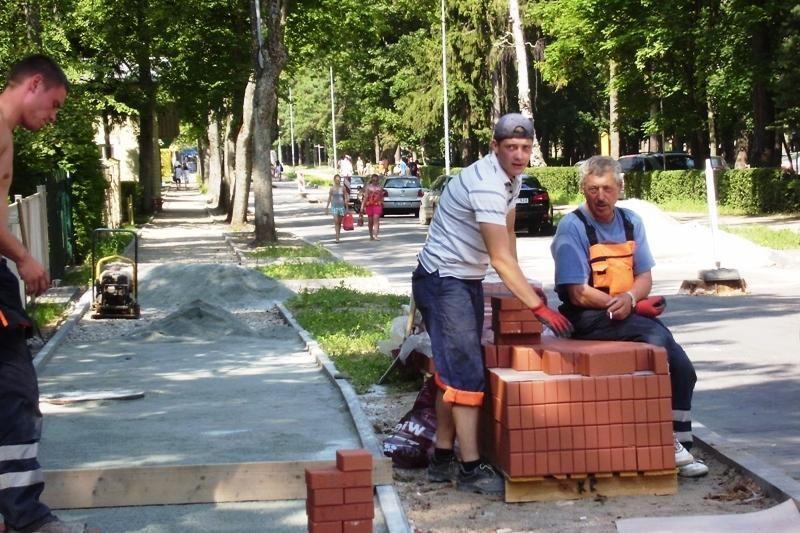 Palangos gatvių rekonstrukcija artėja prie pabaigos