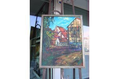 Danės gatvėje – tapybos grando paveikslas