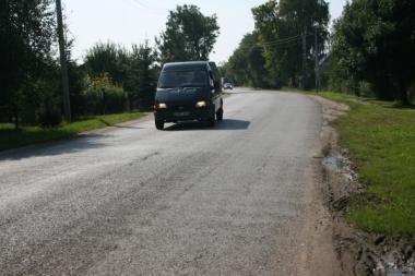Šventė Lapėse: remontuojama Barsūniškio gatvė