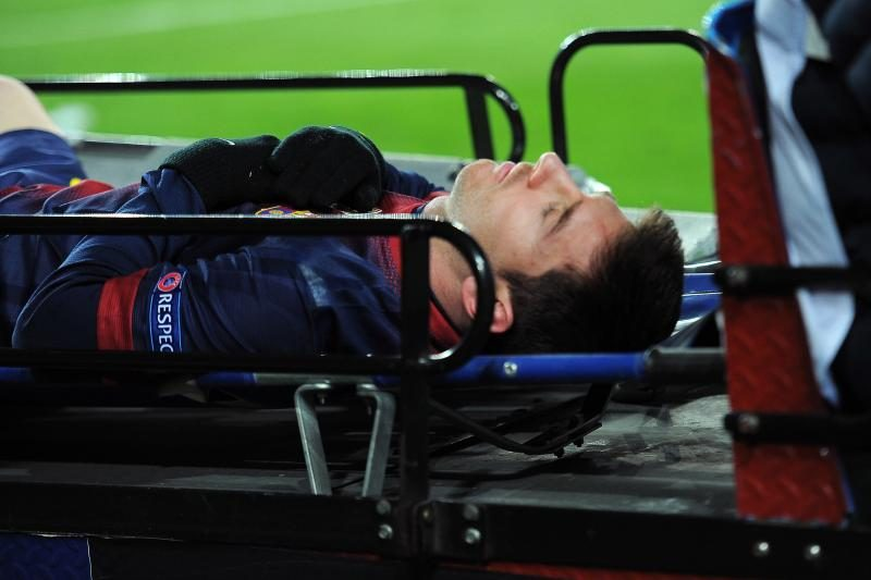 Čempionų lyga: L. Messi iš aikštės išneštas neštuvais